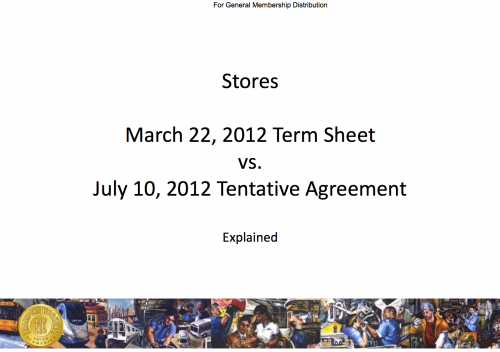 Stores March 22 2012 Term Sheet Vs July 10 2012 Tentative